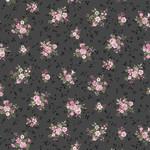 Stof Fabrics Juliet Roses - Bouquets - Dark Grey