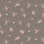 Stoffabrics Juliet Roses - Bouquets - Grey