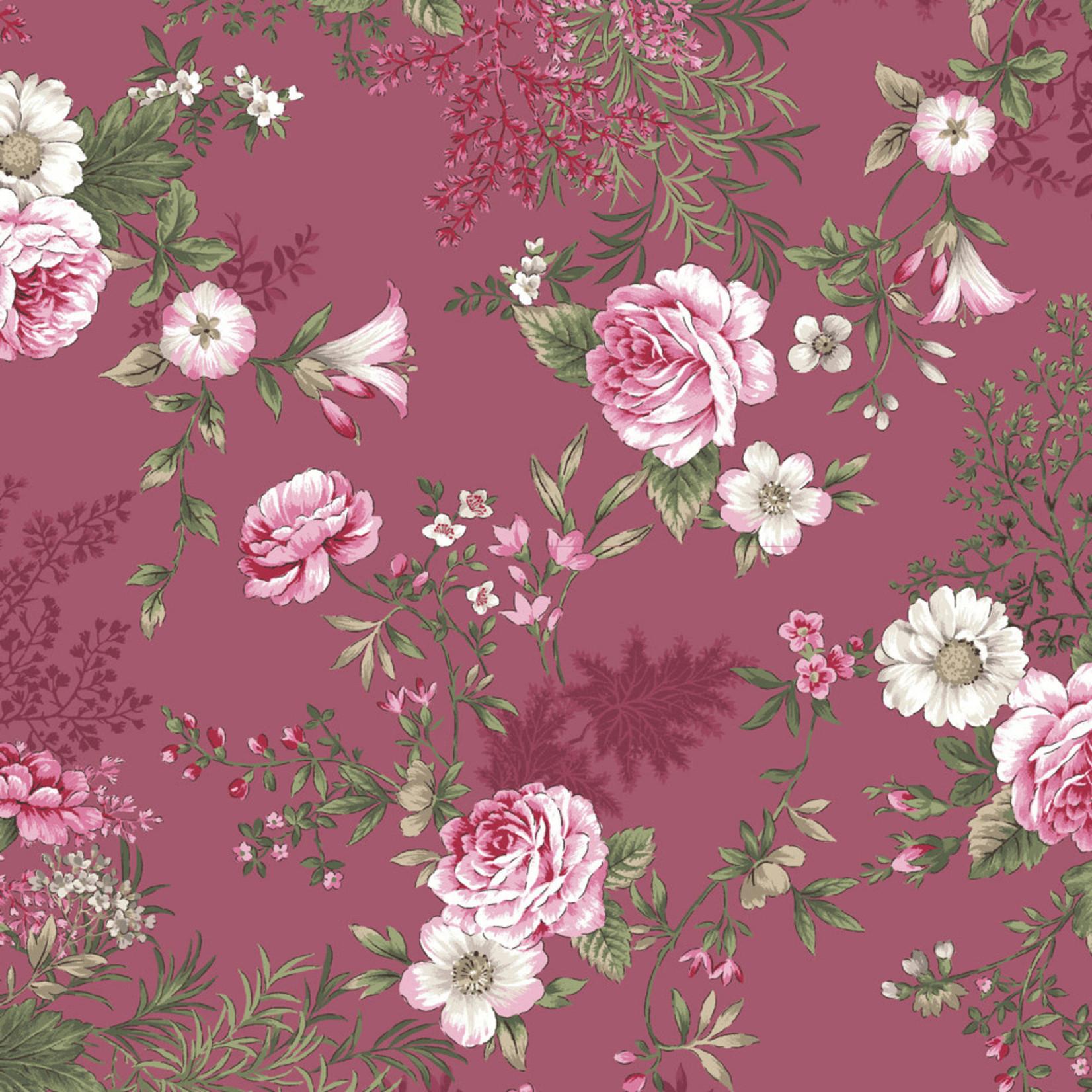 Stoffabrics Juliet Roses - Roses - Pink
