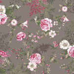 Stoffabrics Juliet Roses - Roses - Light Grey