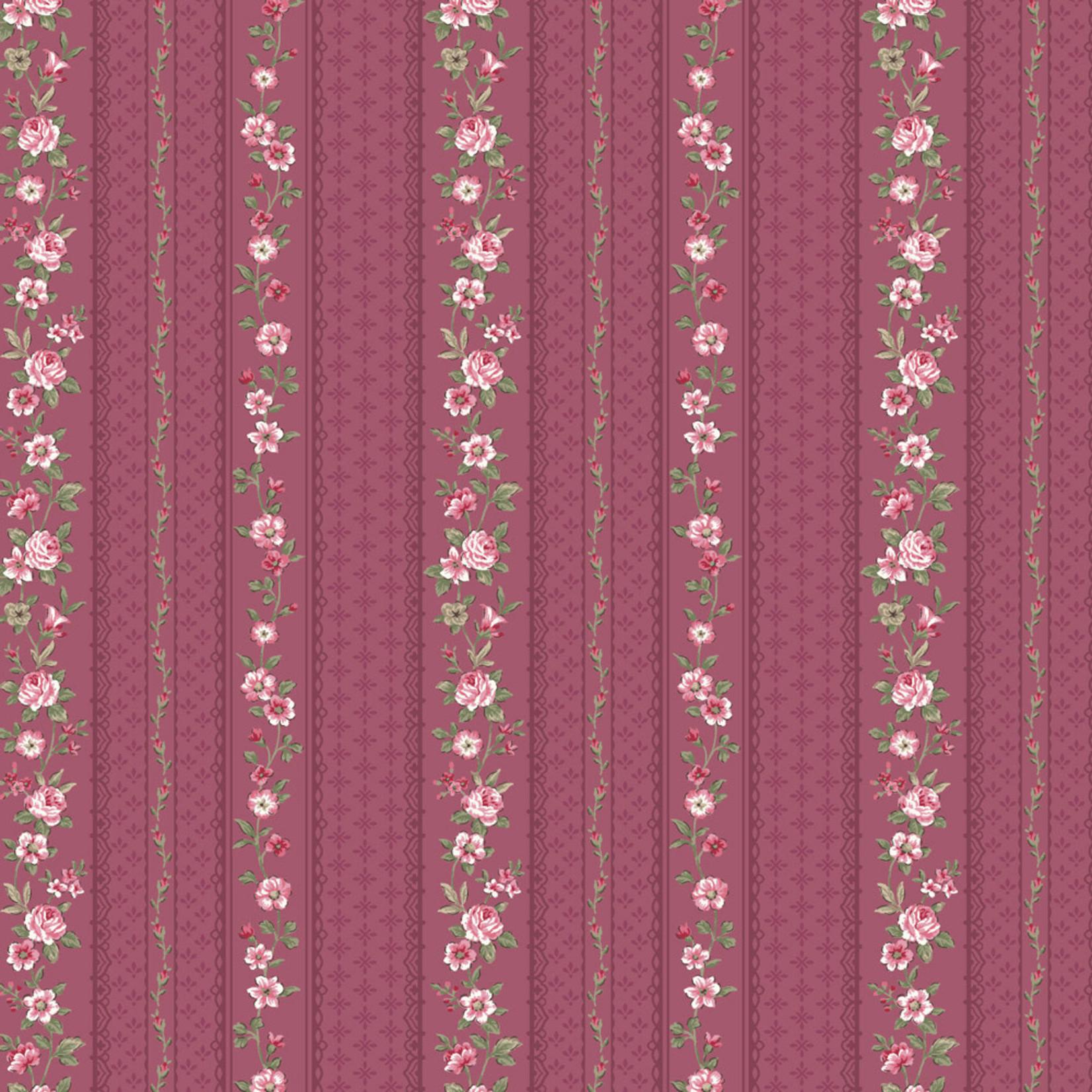 Stoffabrics Juliet Roses - Strips - Pink