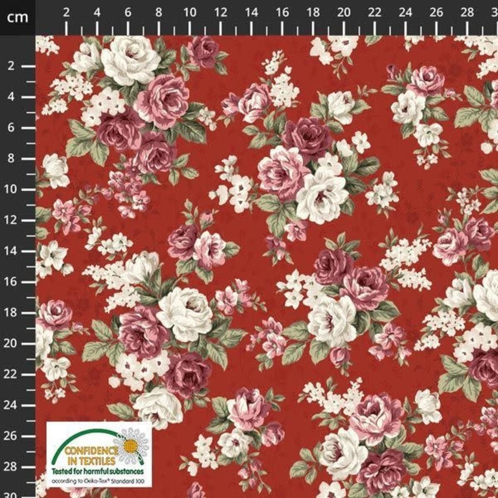 Stof Fabrics Kelly Roses - Red