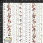 Stoffabrics Sofie Rose - Stripes - White