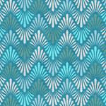 Stoffabrics Vilma - Chervon - Blauw