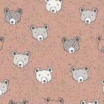 Stoffabrics Wolly Bear - Baby Bear - Pink