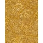 Timeless Treasures Tonga - Ferns - Gold