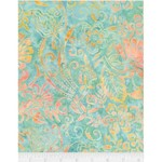 Timeless Treasures Tonga - Flower Scroll - Placid