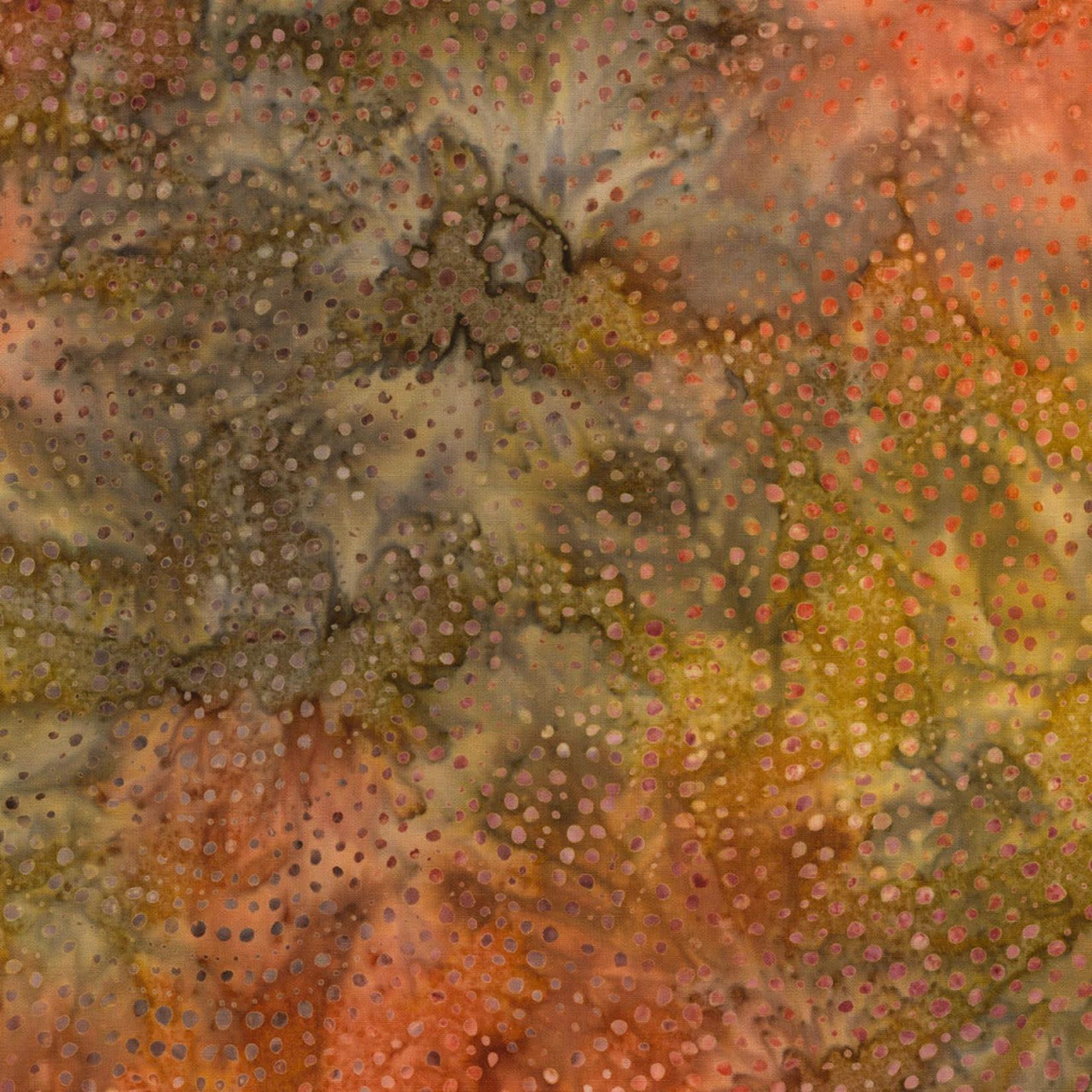 Timeless Treasures Tonga - Dotty Spiral - Rust