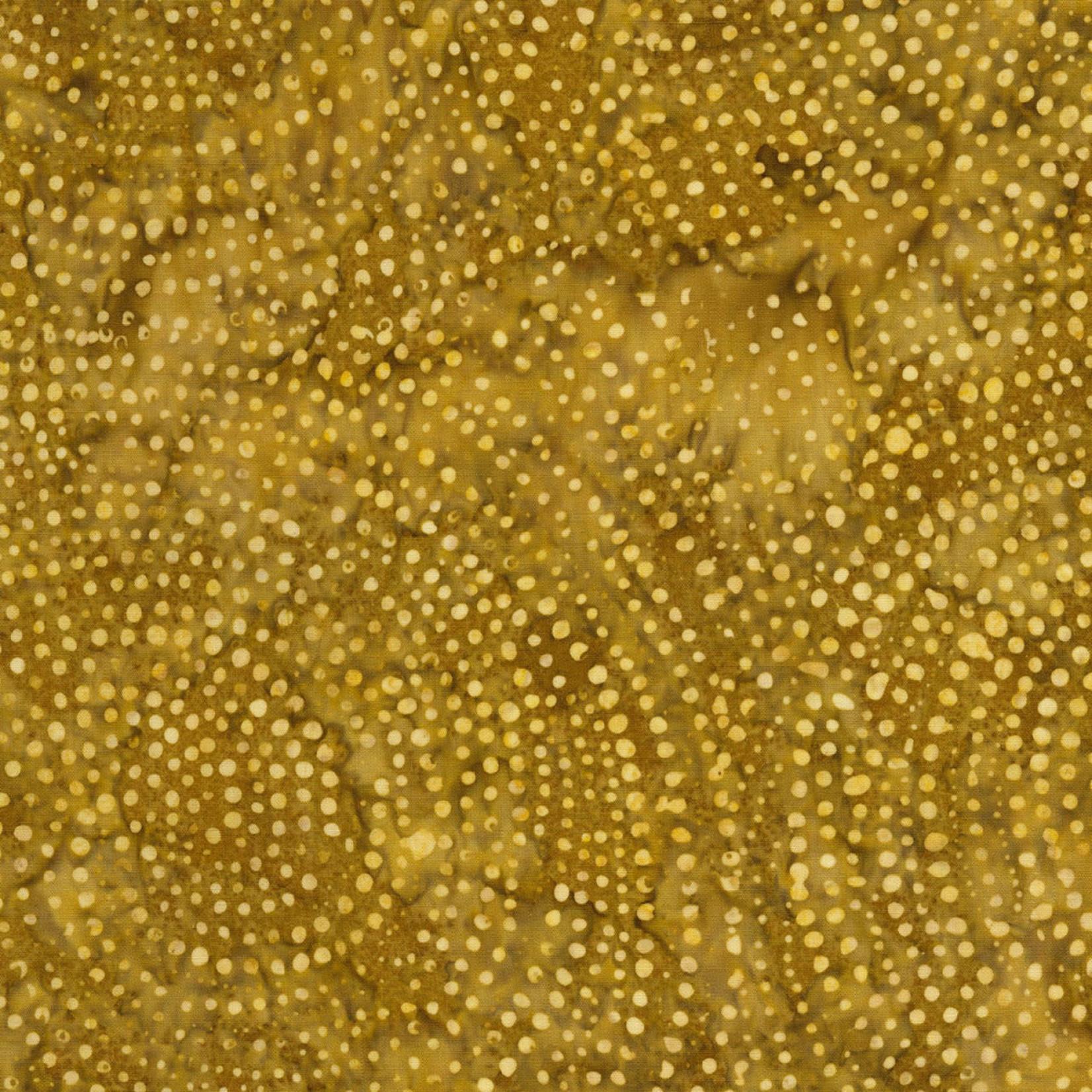 Timeless Treasures Tonga - Dotty Spiral - Gold