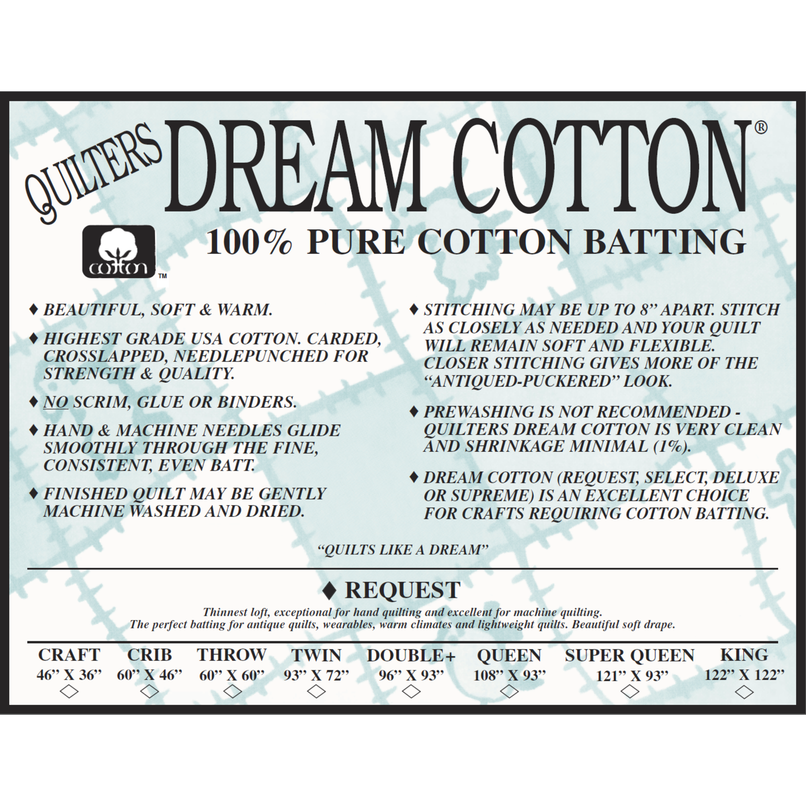 Quilters Dream Katoen - Cotton Request - Van de rol (per 10 cm) 240 cm breed