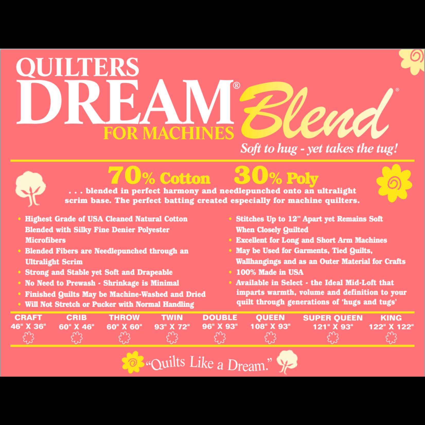 Quilters Dream Katoen/Polyester - Blend 70/30 - Van de rol (per 10 cm) 240 cm breed