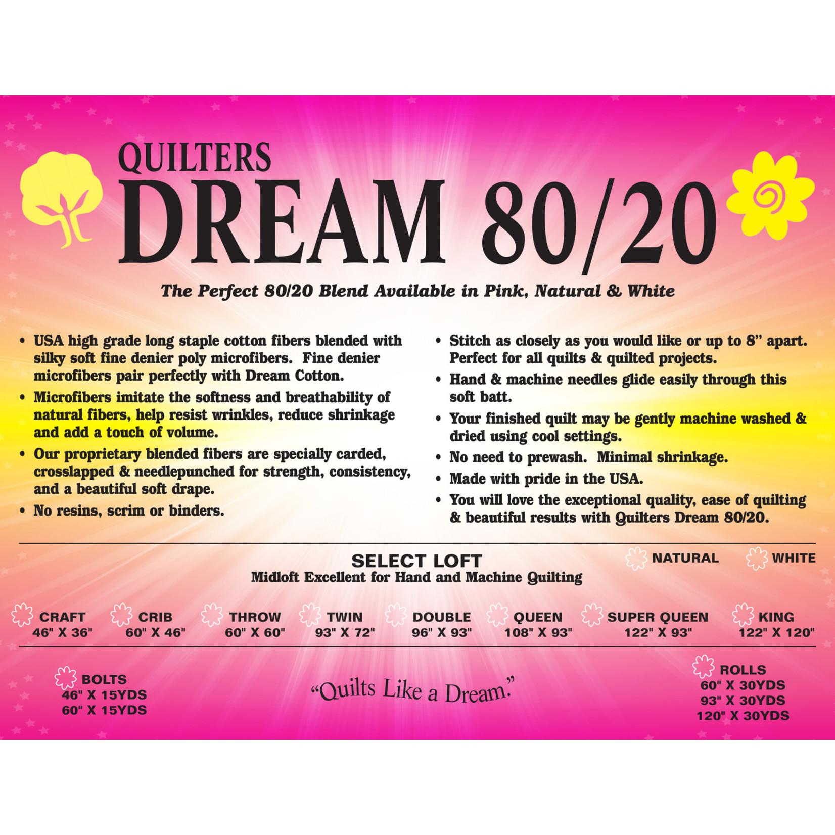Quilters Dream Katoen/Polyester - 80/20  - Van de rol (per 10 cm) 240 cm breed