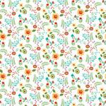 Henry Glass Fabrics Spring Awakens - Op Wit - Bloemen en Planten