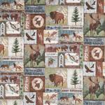 Northcott Outdoor Adventure - Wildlife Blocks - Flanel