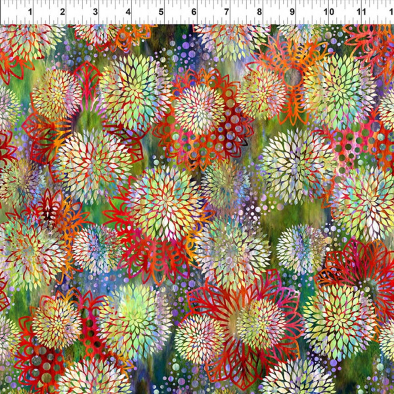 In the Beginning Fabrics Floragraphix V - Chrysanthemum - Multi