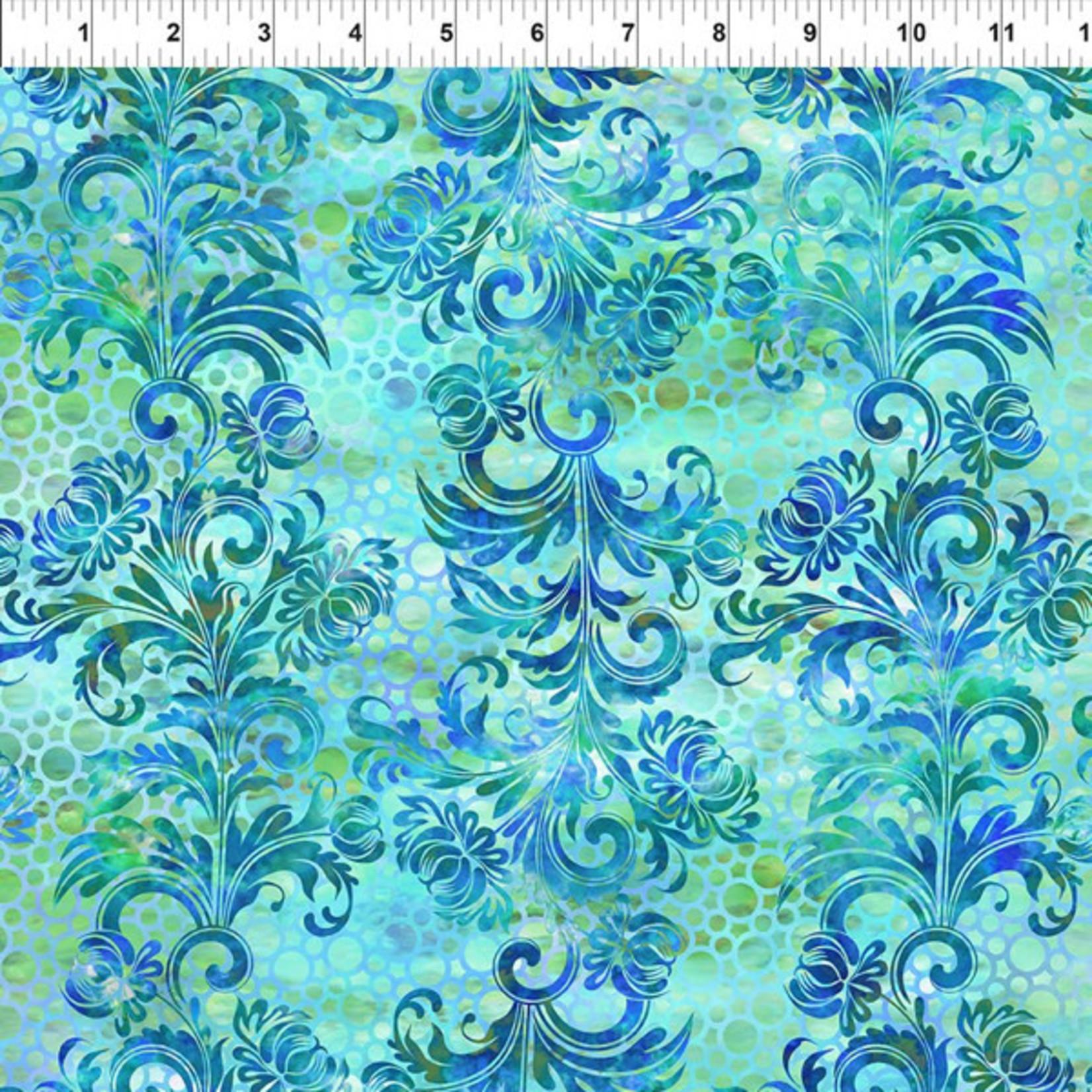 In the Beginning Fabrics Floragraphix V - Dotted Flourish - Blue