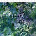 In the Beginning Fabrics Floragraphix V - Leaf Swirl - Green/Blue