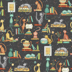 Windham Fabrics Purrfect Day - Catitude - Black