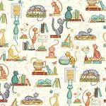 Windham Fabrics Purrfect Day - Catitude - White