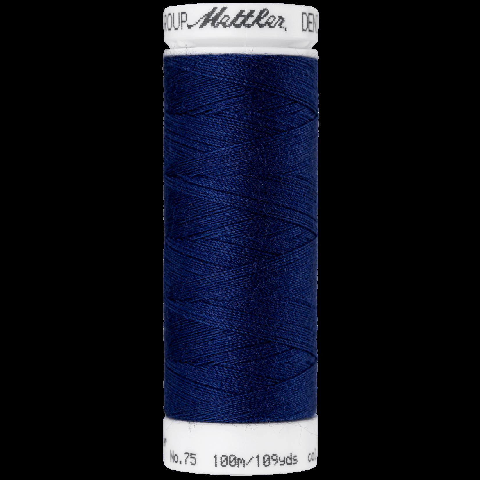 Amann Mettler Denim Doc - #75 - 100 m - 0809 Dark Sapphire Blue
