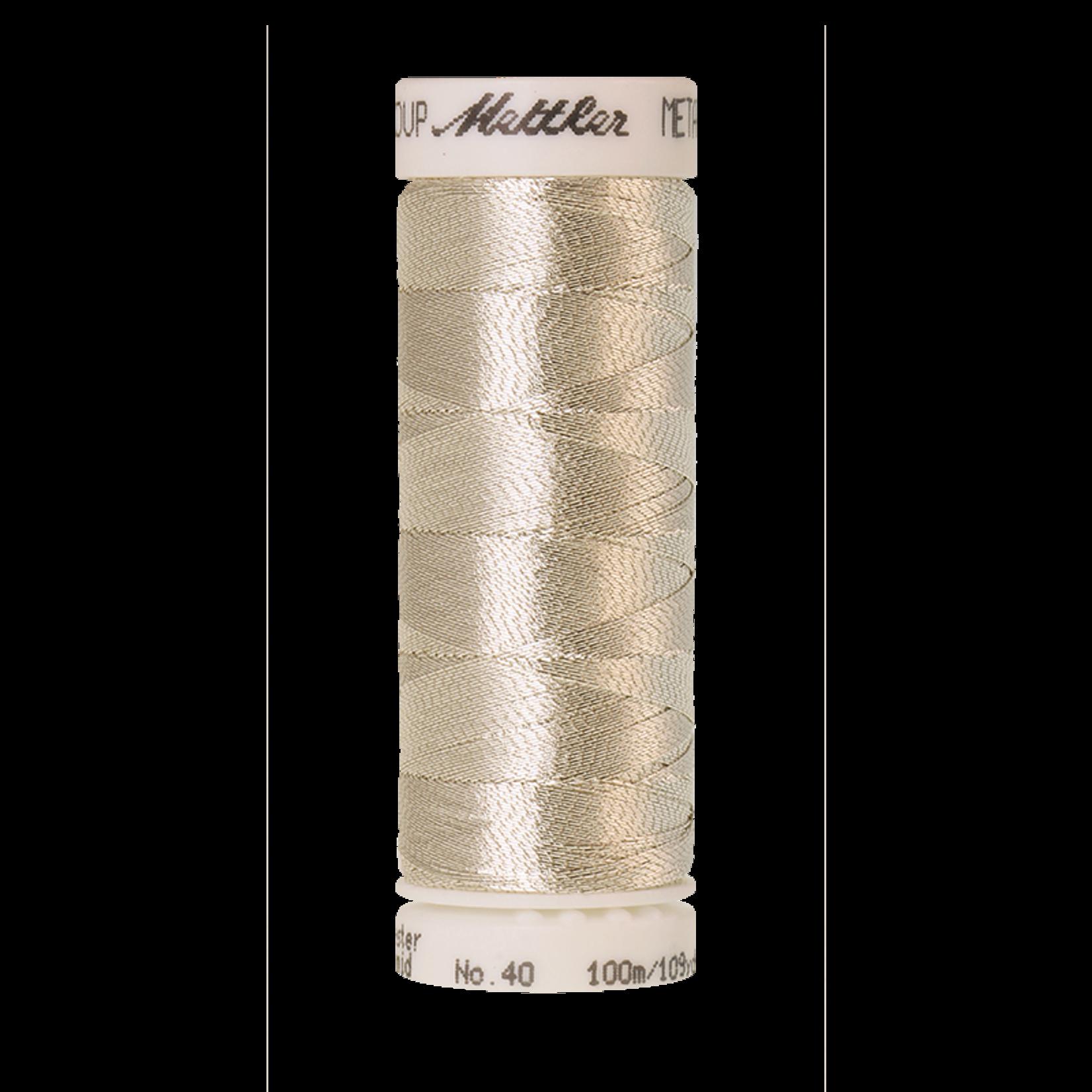 Amann Mettler Metallic - #40 - 100 m - 2701 Silver