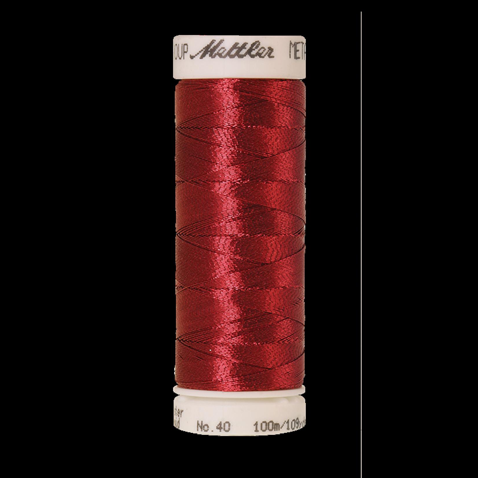Amann Mettler Metallic - #40 - 100 m - 1723 Bright Rubin
