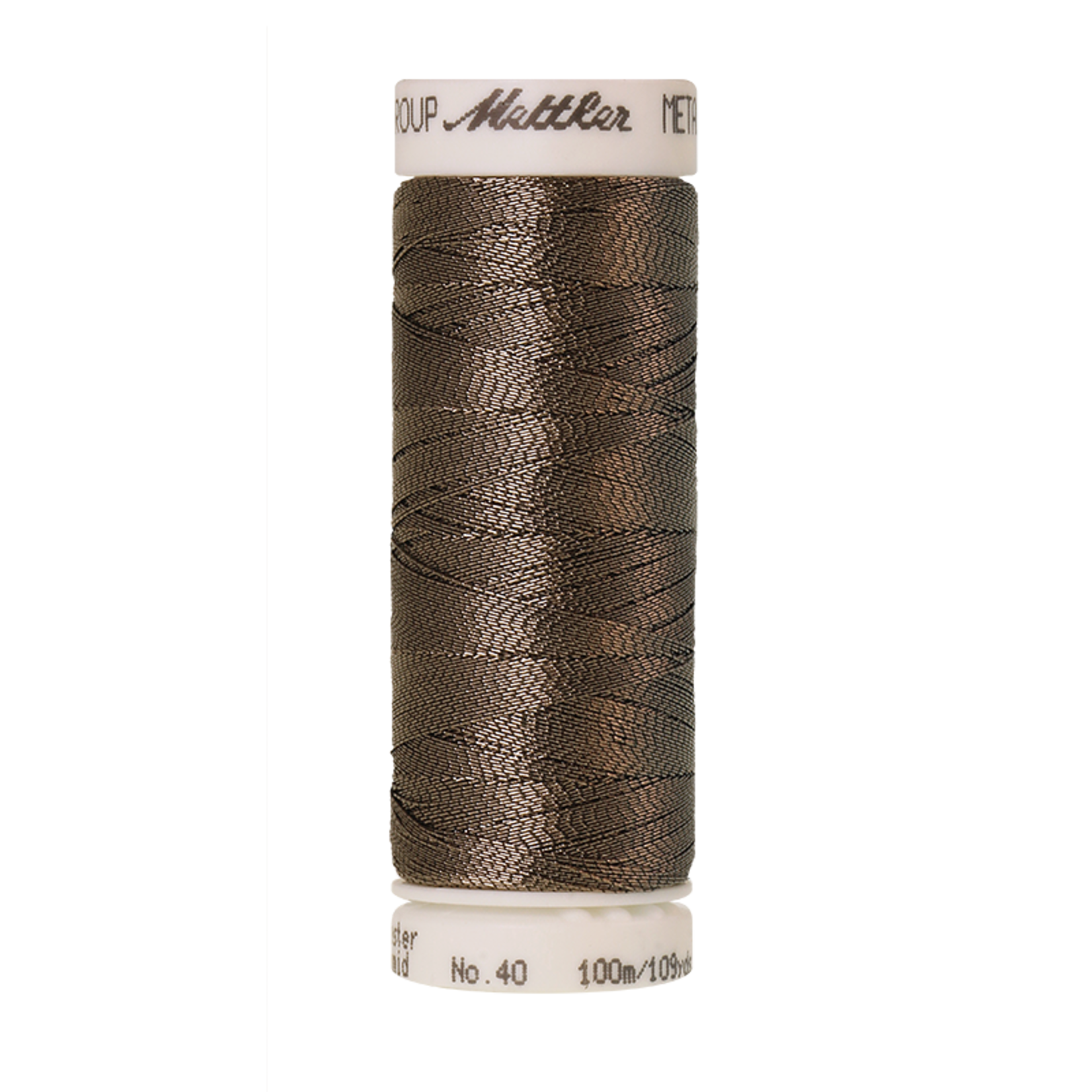 Amann Mettler Metallic - #40 - 100 m - 1874 Dark Quartz