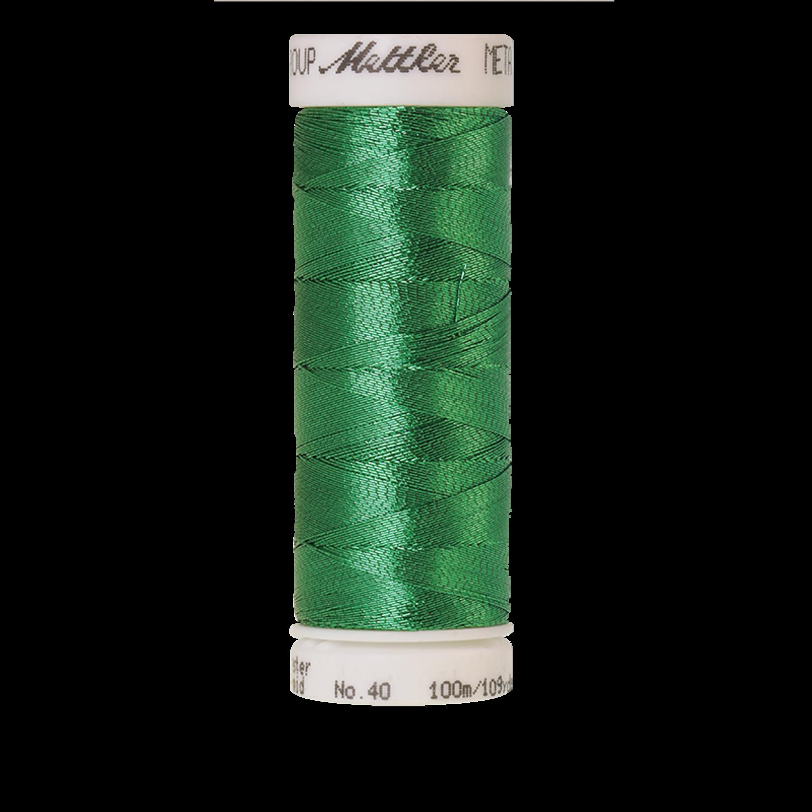 Amann Mettler Metallic - #40 - 100 m - 5833 Malachit