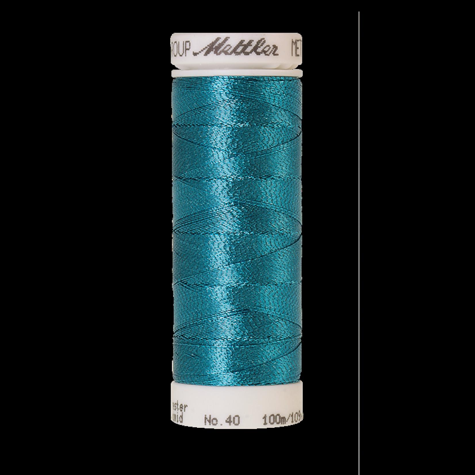 Amann Mettler Metallic - #40 - 100 m - 4101 Bright Turquoise