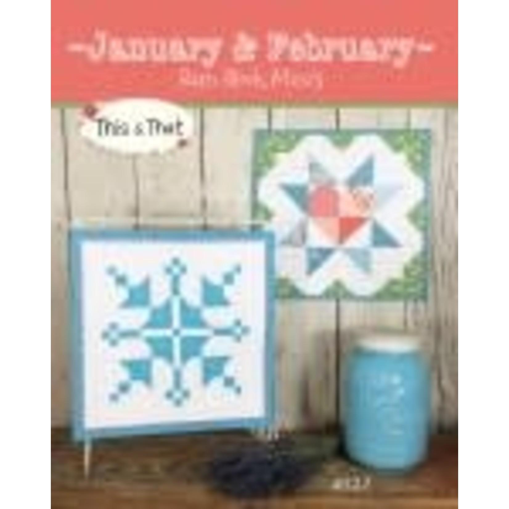 Barn Block Mini's Januari & February - Sherri K. Falls