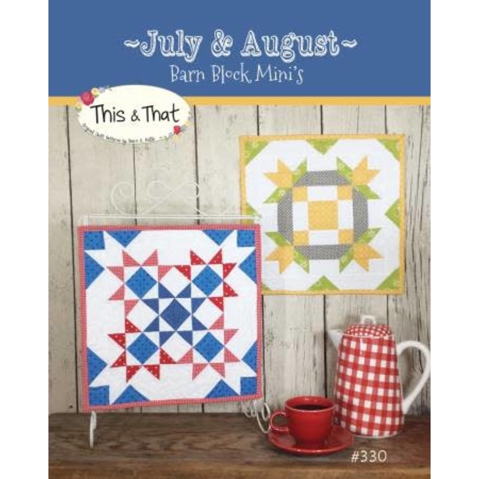 Barn Block Mini's July & August - Sherri K. Falls