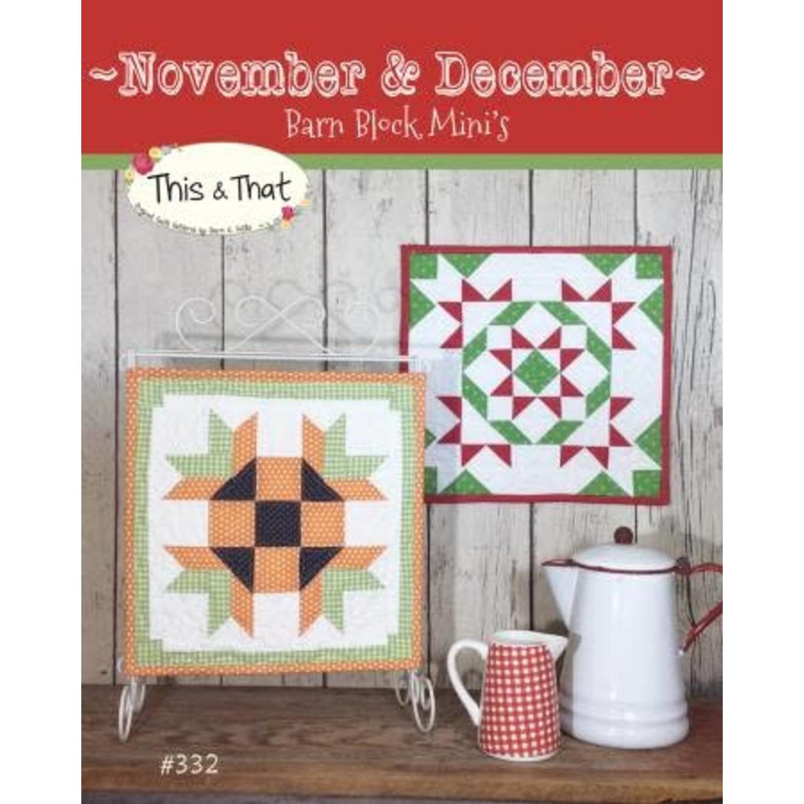 Barn Block Mini's November & December - Sherri K. Falls