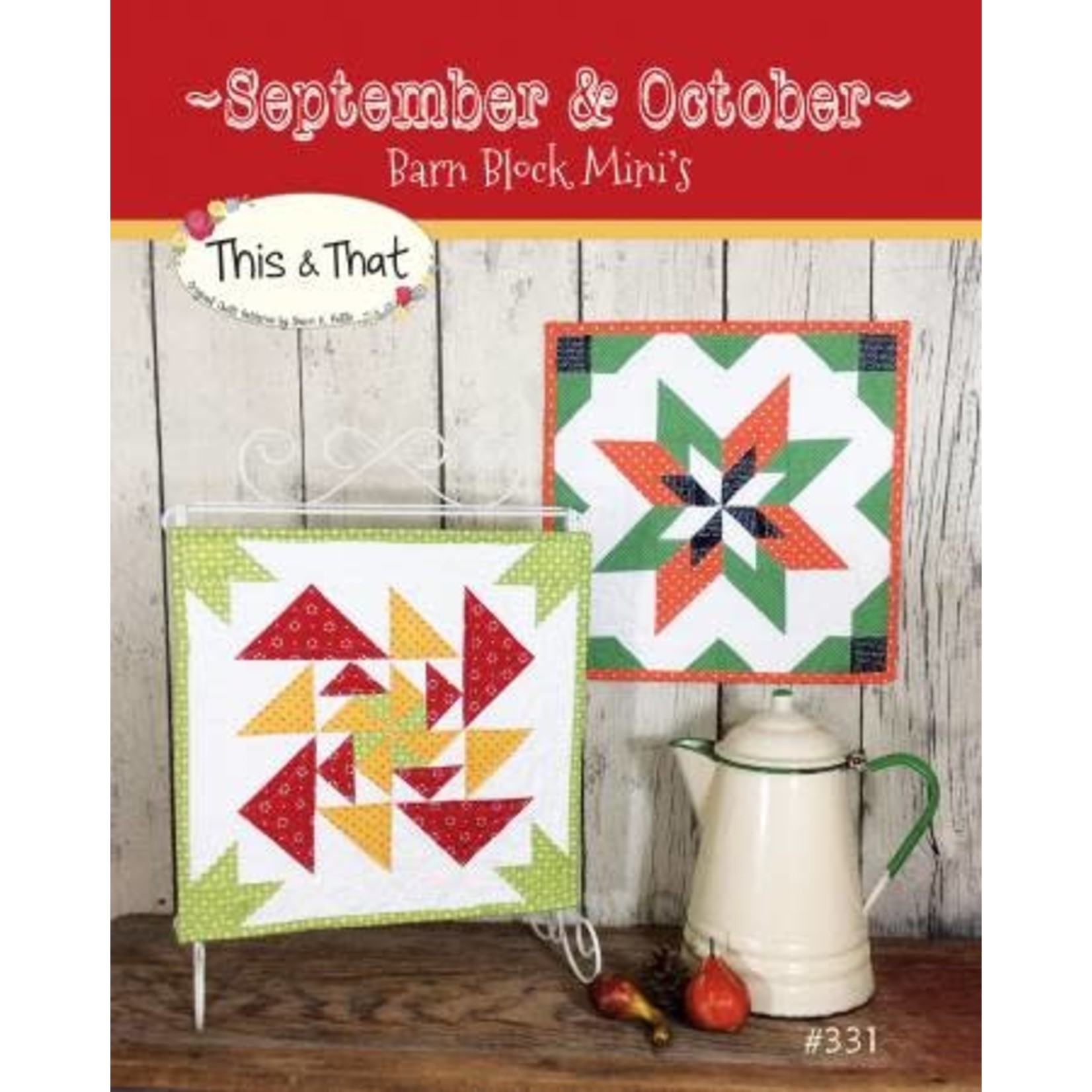 Barn Block Mini's September & Ocober - Sherri K. Falls