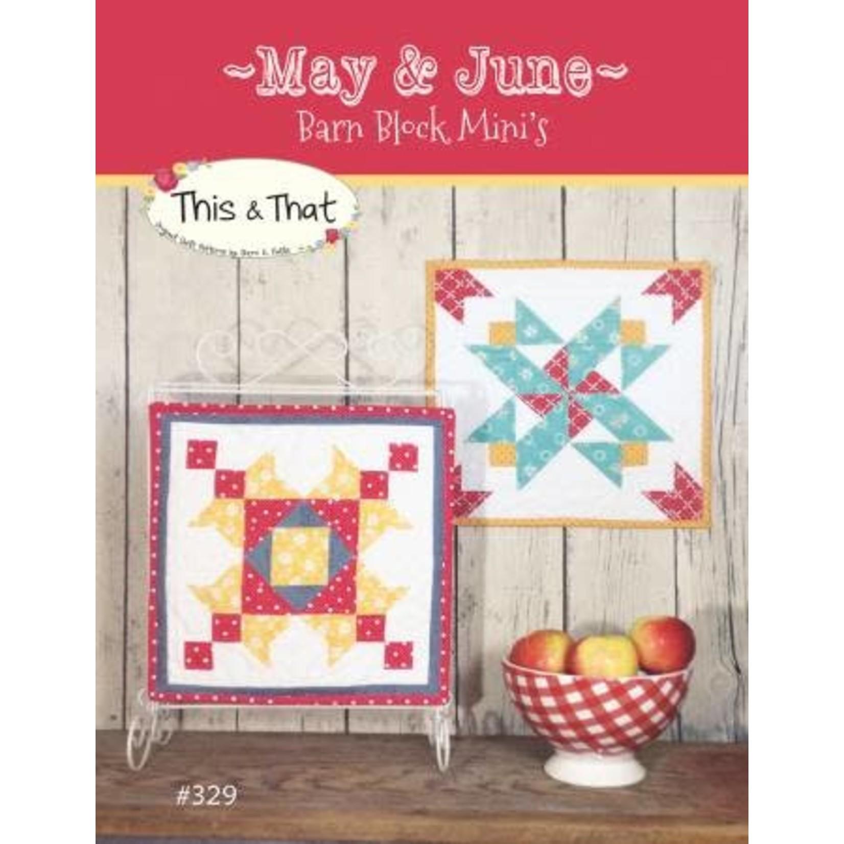Barn Block Mini's May & June - Sherri K. Falls