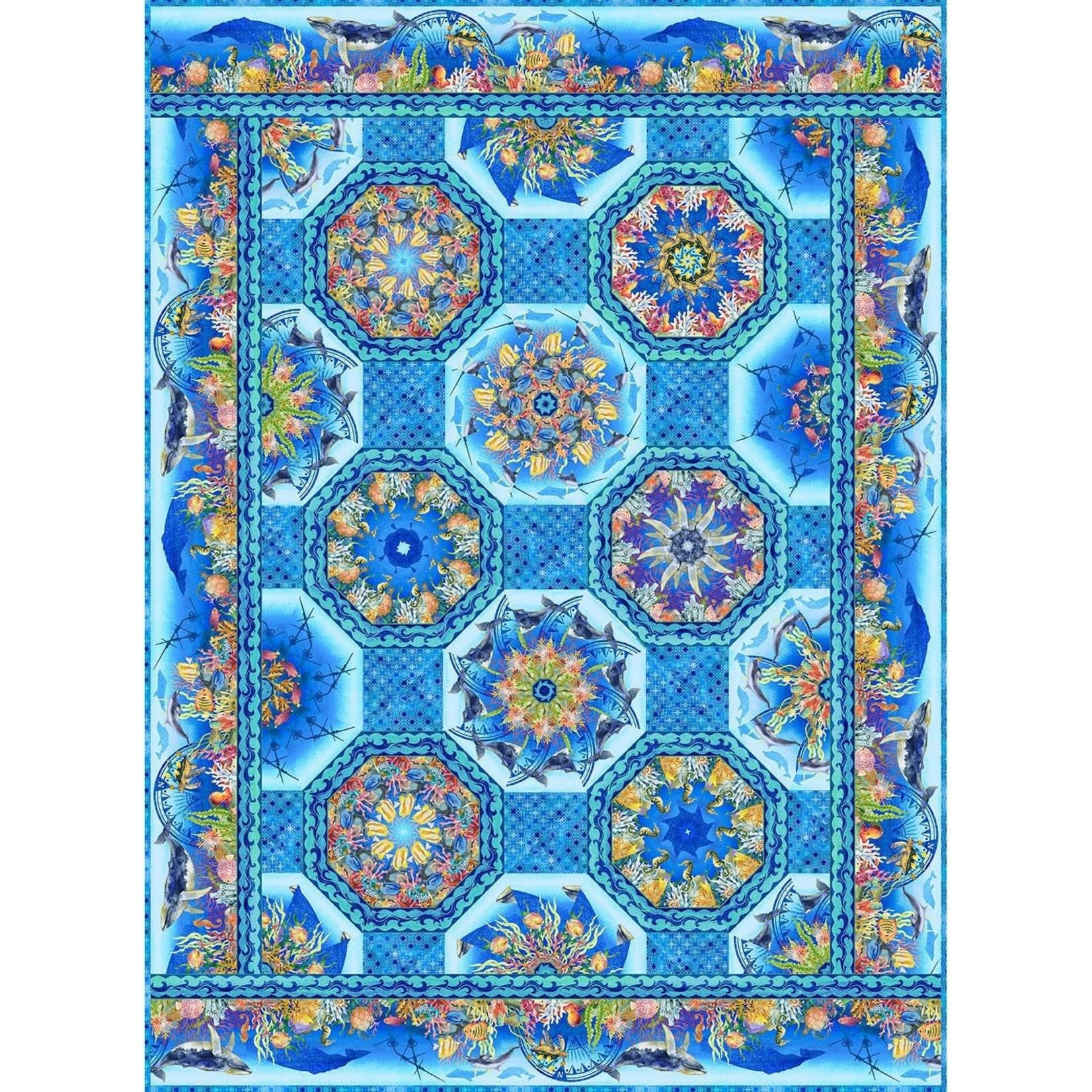 Calypso One - Fabric Kaleidoscope Quilt - Jason Yenter