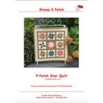 Stamp & Patch 9 Patch star Quilt - Jet@Quilt at Home