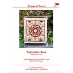 Stamp & Patch September Rose - Jet@Quilt at Home