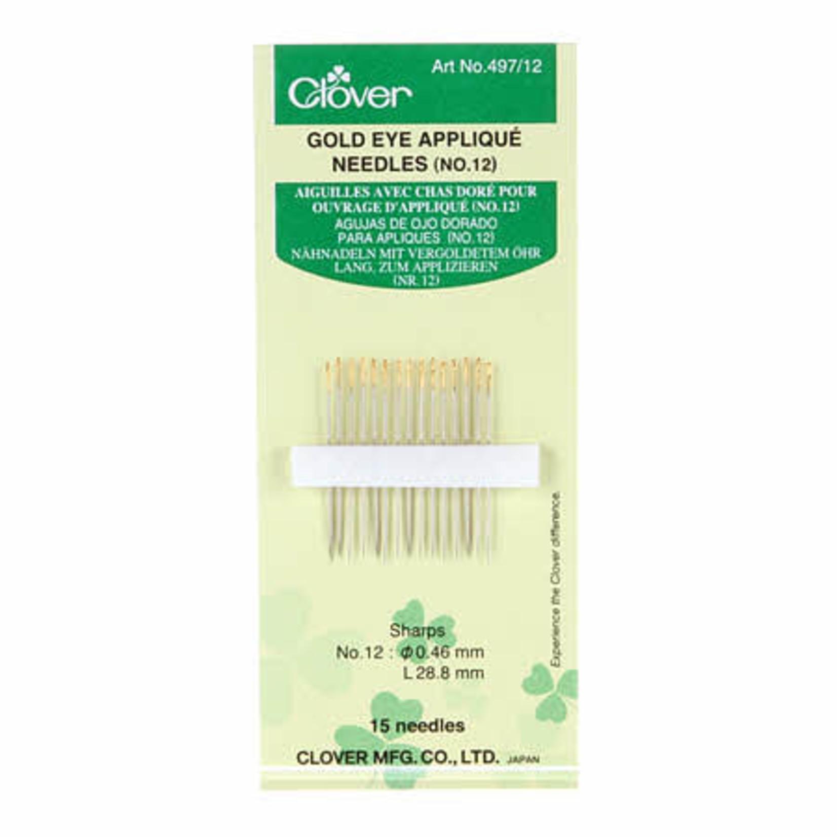 Clover Applicatienaalden - Gold Eye Appliqué Needles - NO.12 - 15 stuks
