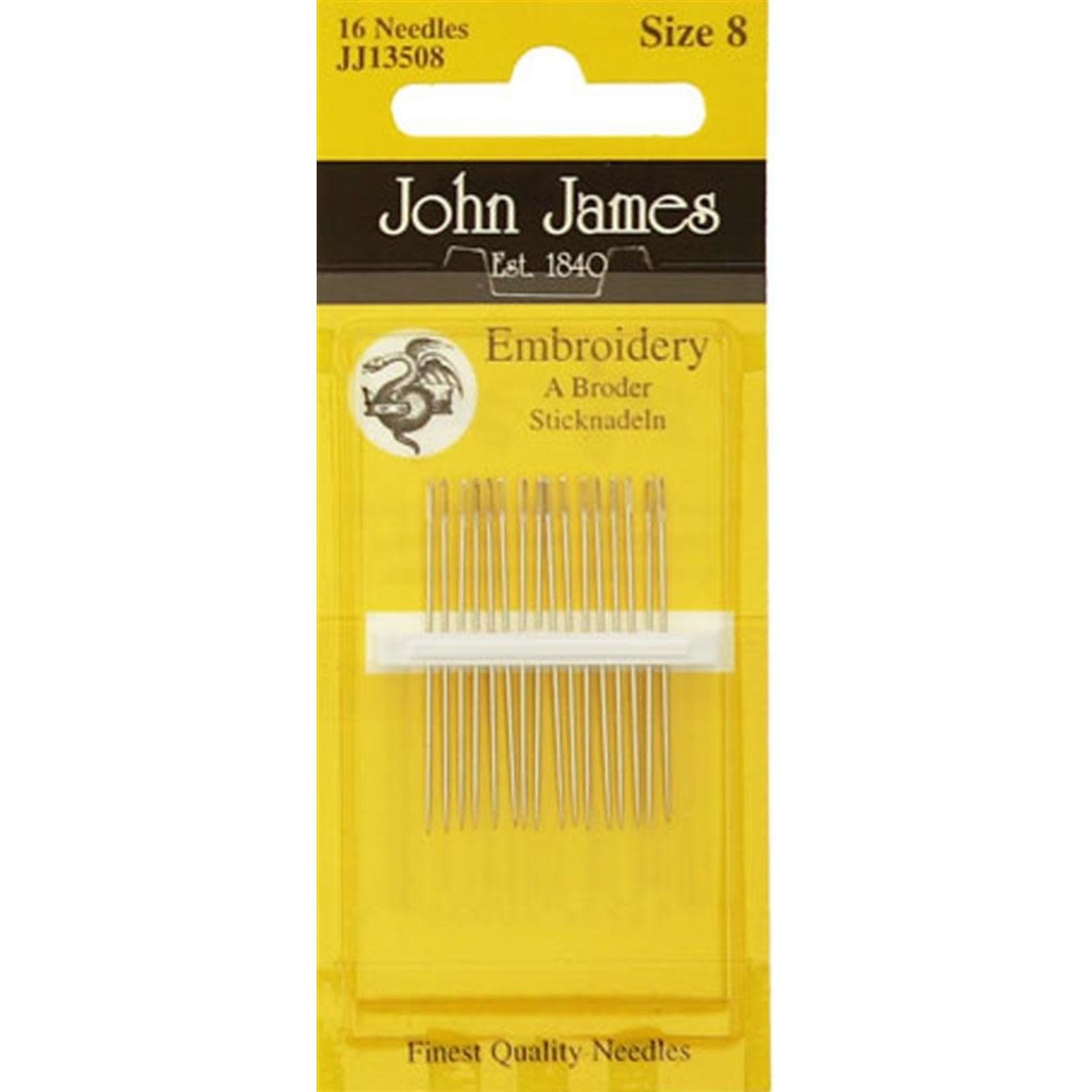 John James Borduurnaalden - Embroidery - Size 8 - 16 stuks