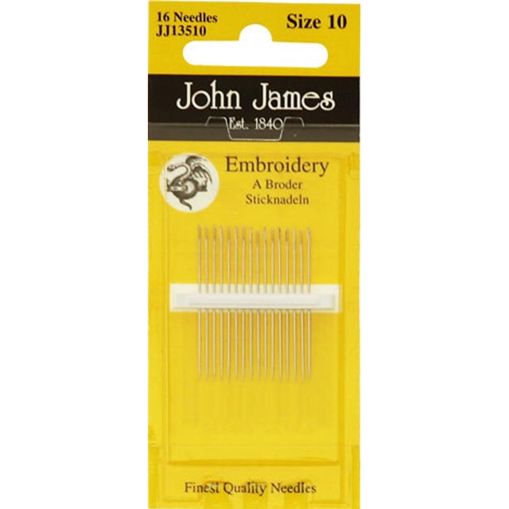 John James Borduurnaalden - Embroidery - Size 10 - 16 stuks