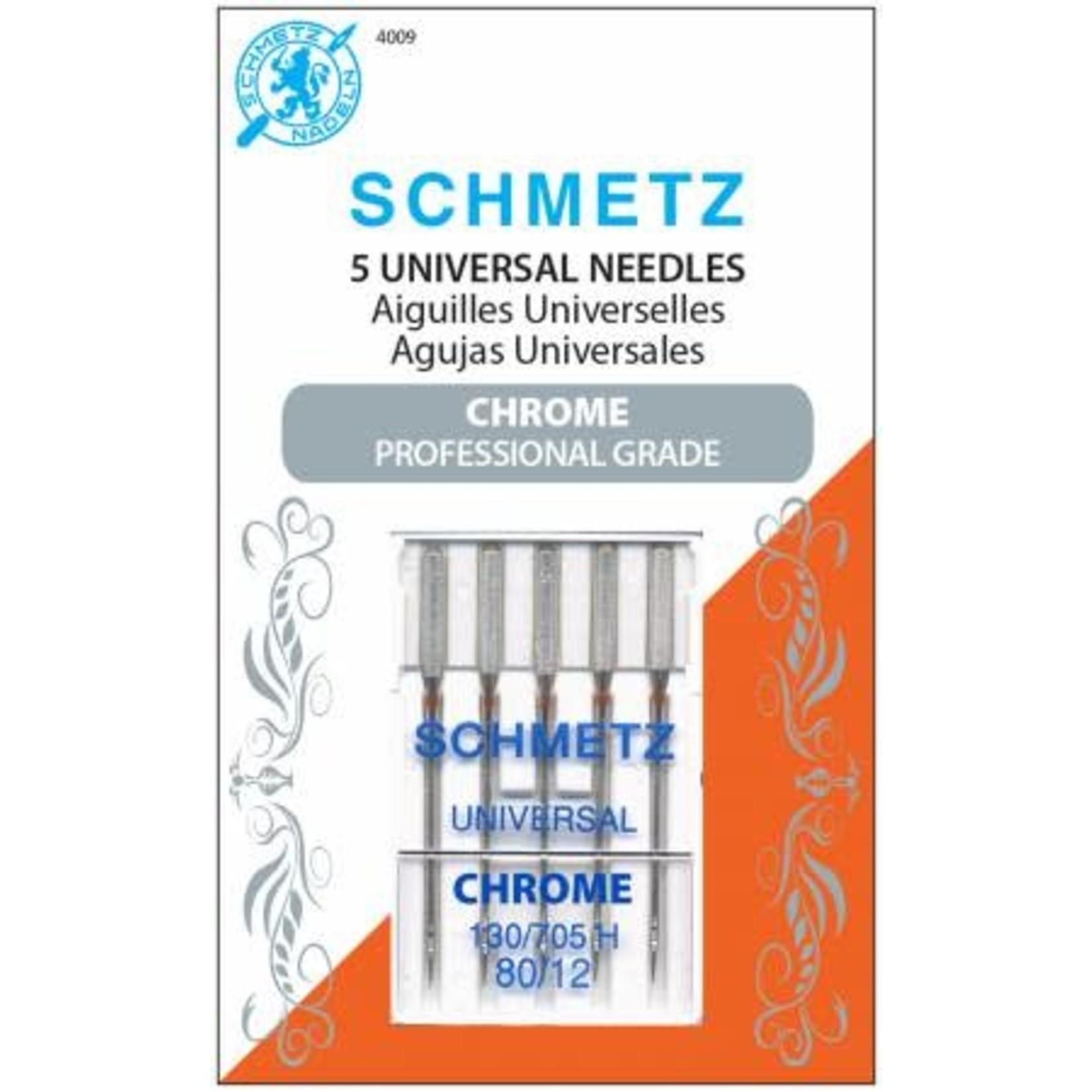 Schmetz Naaimachinenaalden - Universal - 80/12 - Chrome - 5 stuks