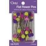 Dritz Spelden - Flat Flower Pins - 50 mm - 100 stuks