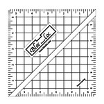 Blocloc Liniaal - Half Square Triangle on Point Ruler - 5,5 inch