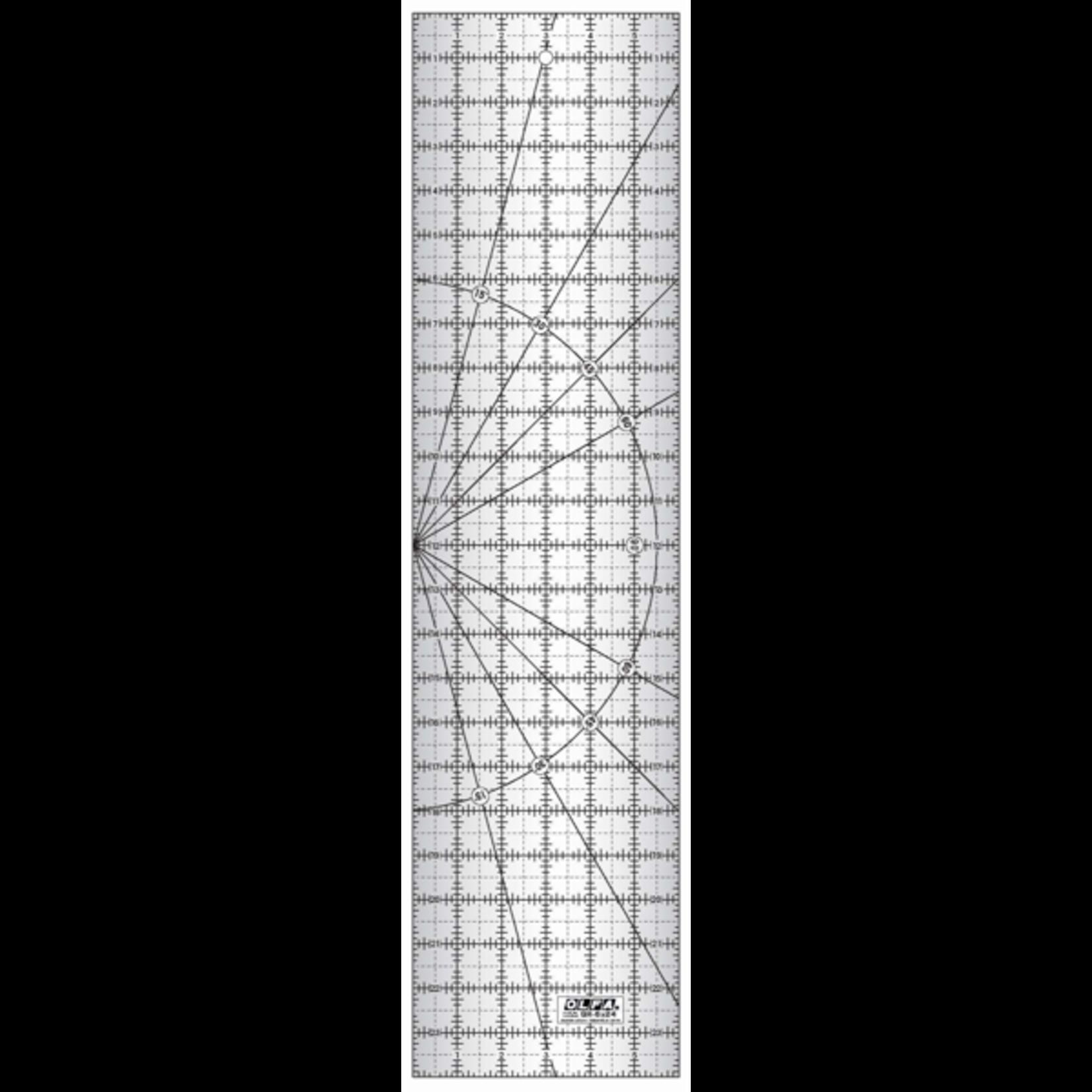 Olfa Liniaal - Olfa - Frosted - 6 inch x 24 inch