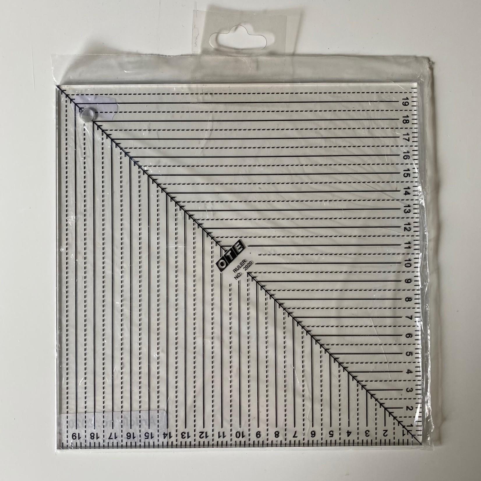 OTE Liniaal - OTE - 20 cm x 20 cm