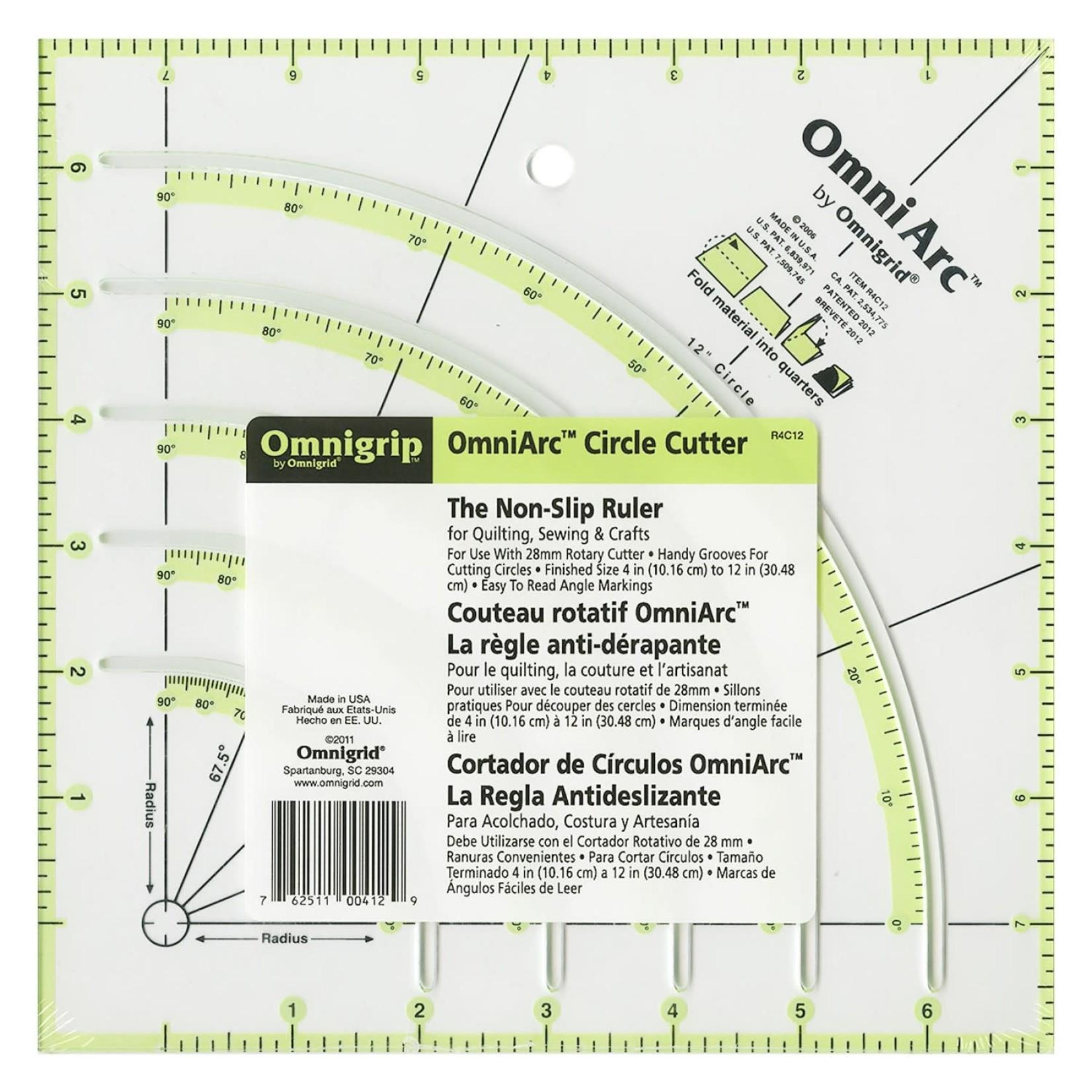 Omnigrid Liniaal - Omnigrip - OmniArc Circle Cutter
