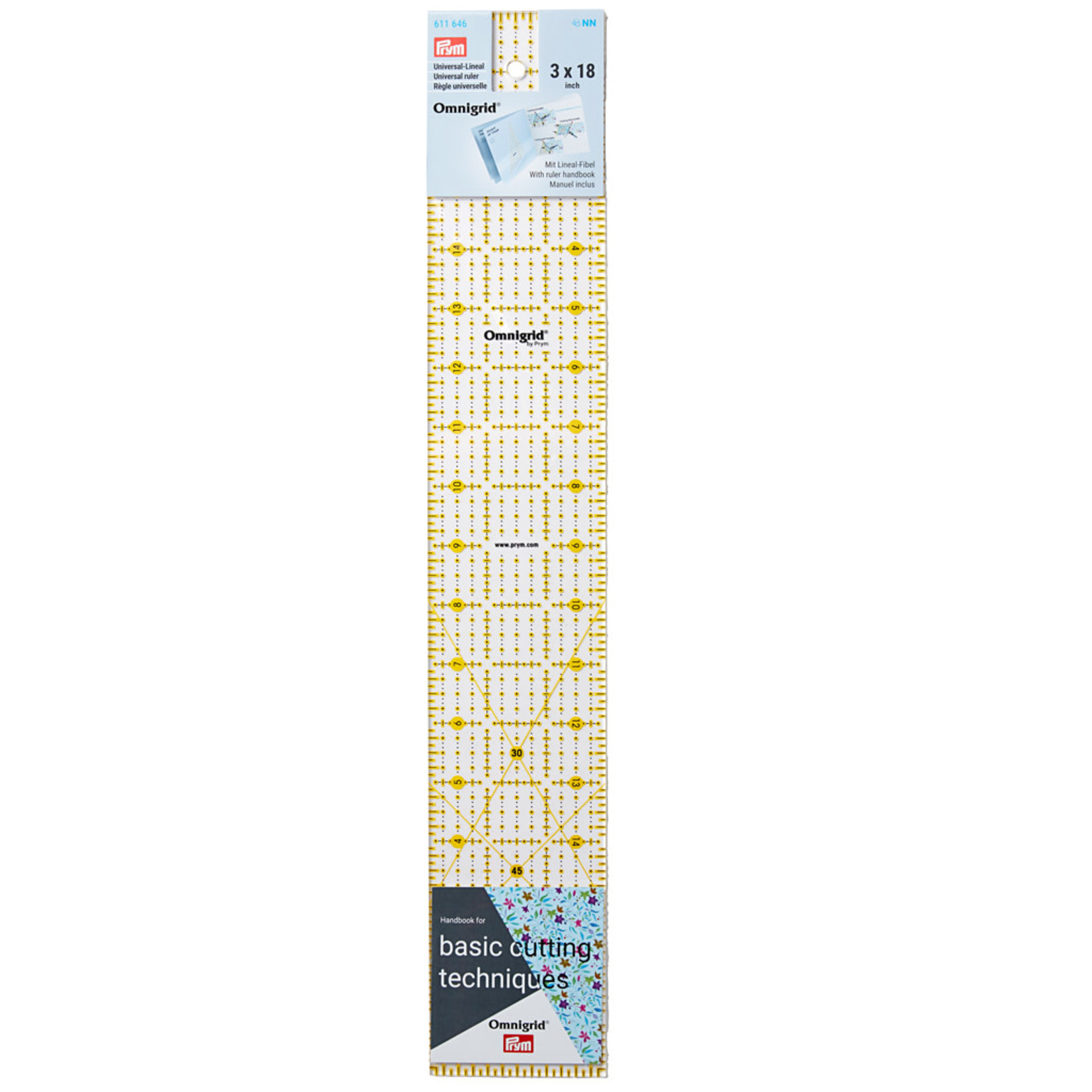 Omnigrid Liniaal - Prym - 3 inch x 18 inch