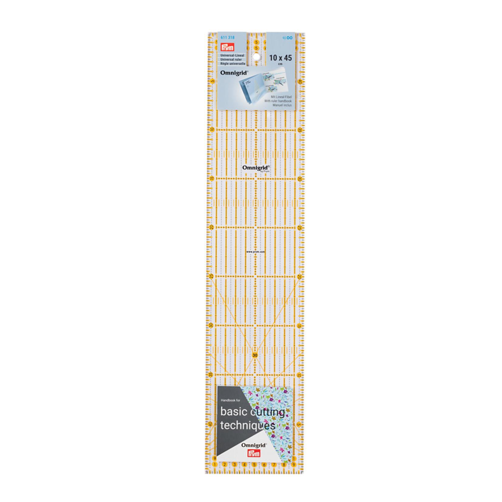 Omnigrid Liniaal - Prym - 10 cm x 45 cm