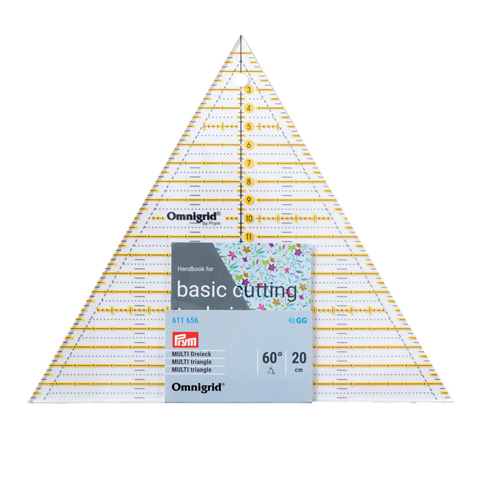 Omnigrid Liniaal - Prym - 20 cm - 60° Driehoek