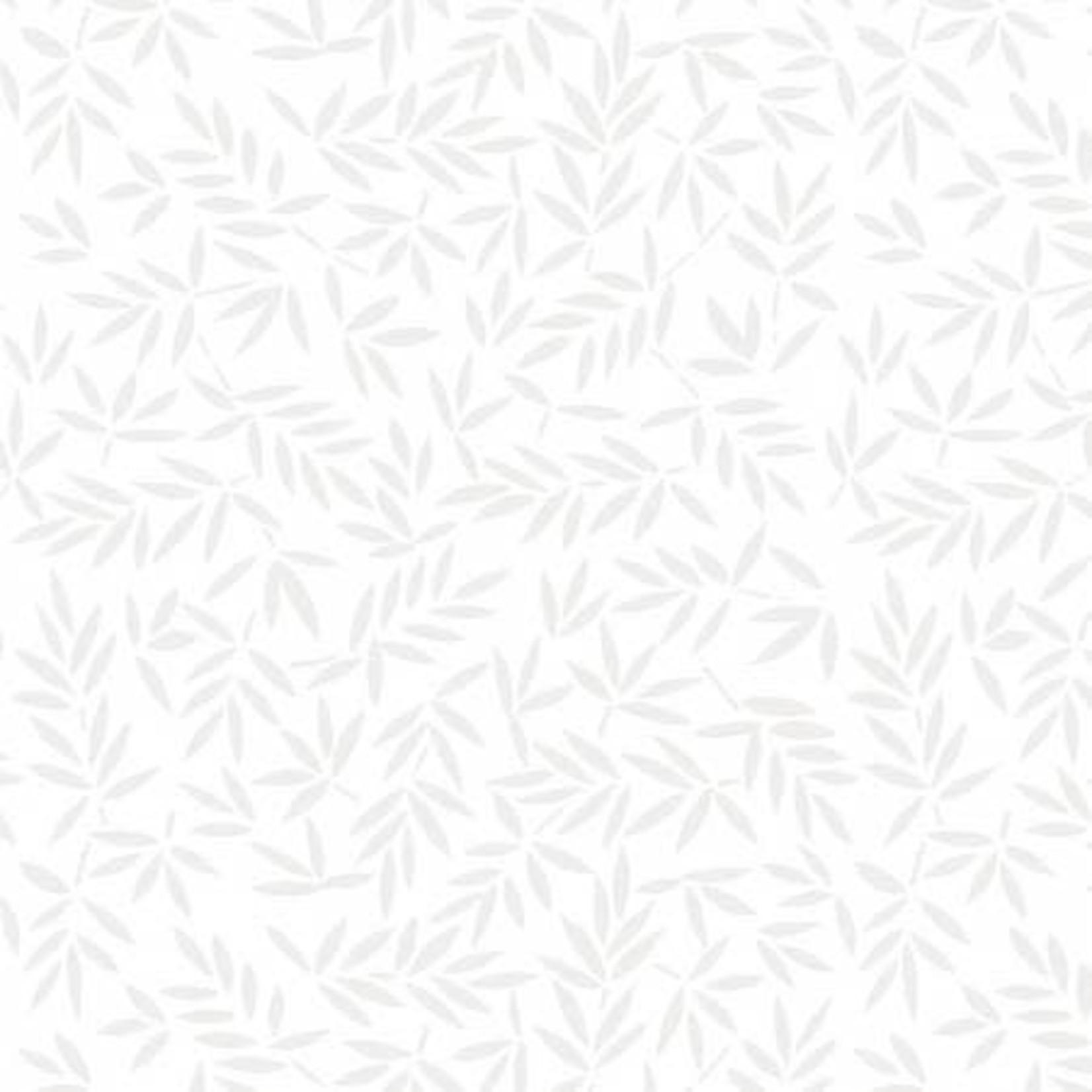 Wilmington Prints Mottled Leaves - White